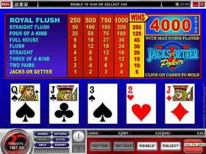 Free video poker game